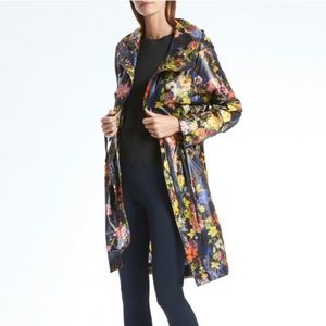 Banana Republic | Floral packable raincoat